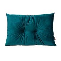 Domarex Polštář s knoflíky Serenity Velvet zelená, 40 x 60 cm
