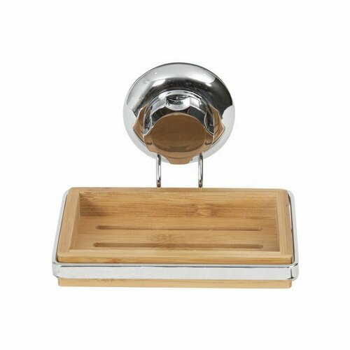 Držák na mýdlo Compactor Bestlock SPA Bamboo RAN5806 na zeď, bez vrtání, bambusový