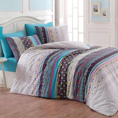 Bavlnené obliečky Melanie modrá, 140 x 220 cm, 70 x 90 cm