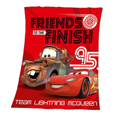 Dětská deka Cars Friends Finish, 130 x 160 cm