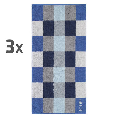JOOP! ručníky Plaza Azur, 50 x 100 cm, sada 3 ks