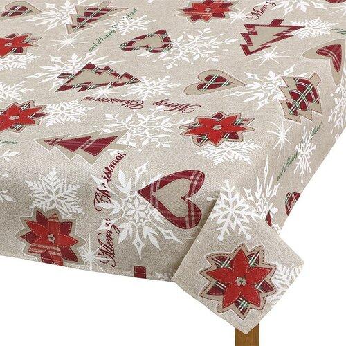 Față de masă Bellatex Pom de Crăciun, 100 x 100 cm imagine