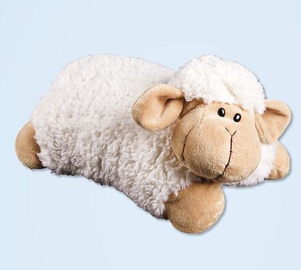 Rozkládací plyšový polštářek ovečka