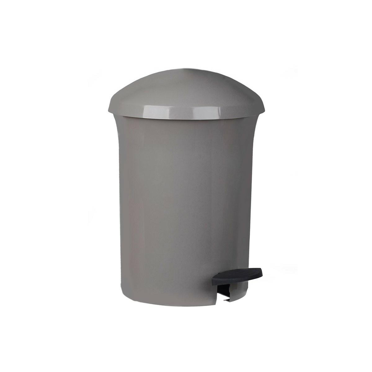 Coș de gunoi Aldotrade Dust Bin, cu pedală, 8,1 l, gri imagine 2021 e4home.ro