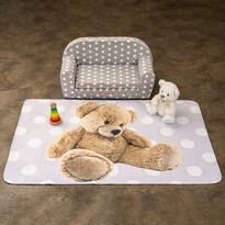 Detský koberec Ultra Soft Medvedík ružová, 130 x 180 cm