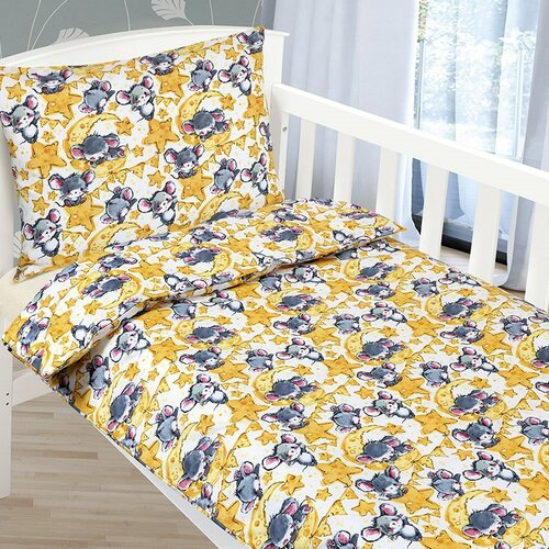 Bellatex Lenjerie de pat din bumbac pentru copii Agáta Șoricei, 90 x 135 cm, 45 x 60 cm imagine 2021 e4home.ro