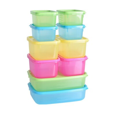 Excellent Houseware Plastikowe pojemniki na żywność, 10 szt.
