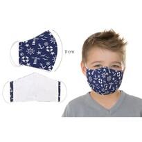 Ústní bavlněná rouška Kotva modrá - děti do 12 let