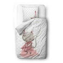 Butter Kings gyermek szatén ágynemű kiságyba Little mouse, 100 x 130 cm, 40 x 60 cm