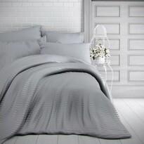 Kvalitex Stripe szatén ágynemű, világosszürke
