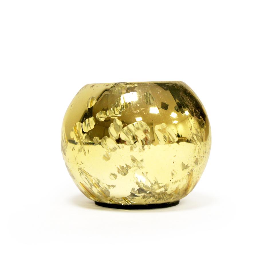 Svietnik zlatá pr. 7 cm, HTH