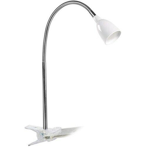 Solight LED stolná lampička 2,5W, 3000K, klip, biela WO33-W