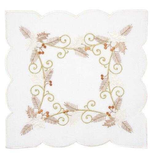 Forbyt Vánoční ubrus Cesmína bílá, 35 x 35 cm, 35 x 35 cm