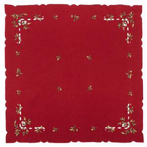 Vánoční ubrus jmelí červená, 85 x 85 cm