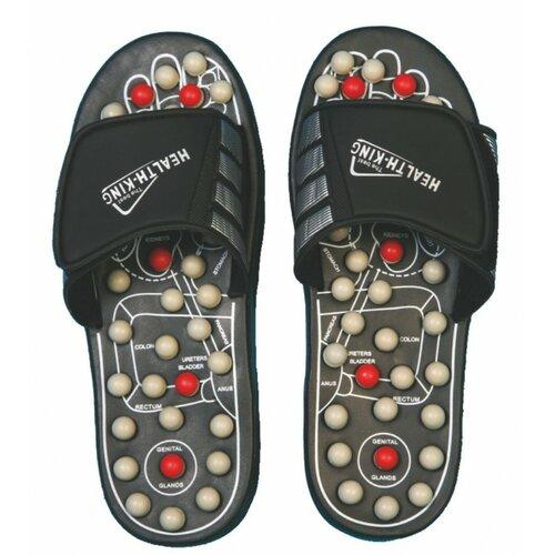 Akupresurní masážní pantofle suché zipy nanotextilie s magnety - SJH 314A vel. M, 40 - 41