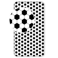Cearceaf din bumbac pentru copii Fotbal, 90 x 200 cm