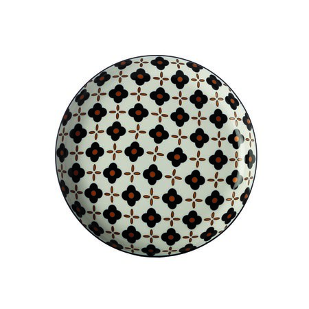 Maxwell & Williams Marigold mělký talíř  Black Flower, 23 cm