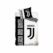 Bavlněné povlečení FC Juventus Bianco Neri, 140 x 200 cm,  70 x 90 cm