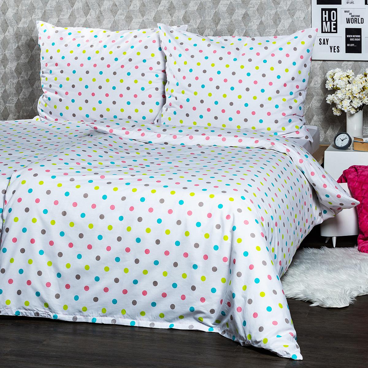 4Home Bavlnené obliečky Dots, 140 x 220 cm, 70 x 90 cm