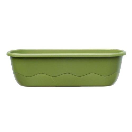 Plastia Samozavlažovací truhlík Mareta zelená, 60 cm