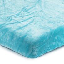 Mikroplüss lepedő kék, 180 x 200 cm