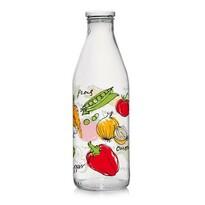 Cerve Sklenená fľaša s viečkom ZELENINA 1 l, 6 ks