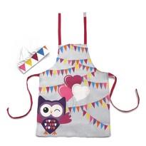 Domarex Dziecięcy zestaw kuchenny OWL, fartuch i czepek