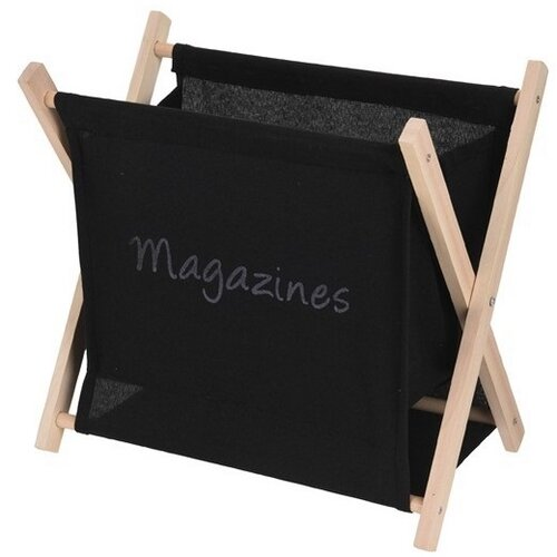 Estante újságtartó állvány, fekete