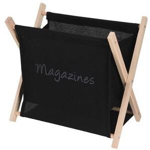 Stojan na časopisy Estante, černá