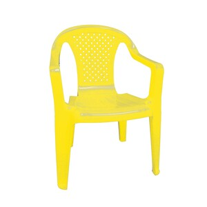 Dětská židle, žlutá