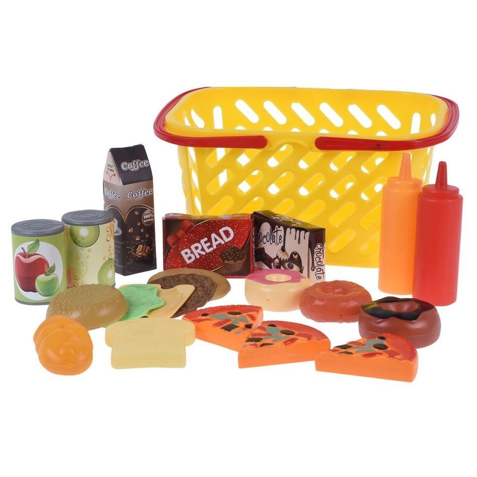 Koopman Dětský hrací set Jdeme nakupovat, žlutá