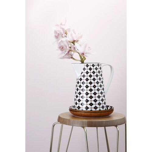 Maxwell & Williams Marigold miska Black Flower, 15,5 cm