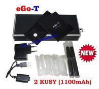 Elektronická cigareta eGo-T 1100mAh, 2ks, černá, 10,8 x 1,4 cm