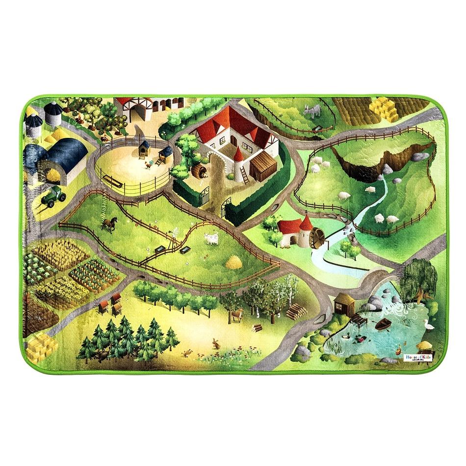 Vopi Detský koberec Ultra Soft Farma, 100 x 150 cm