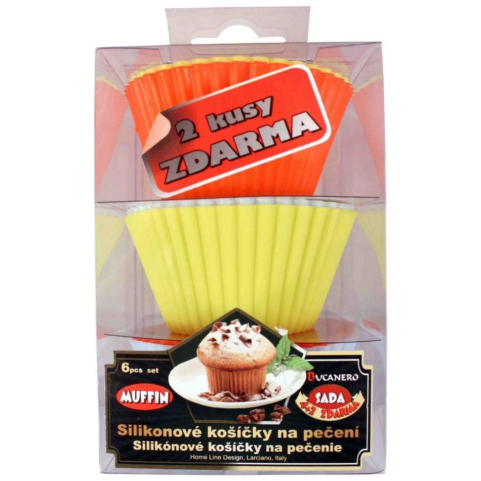 6dílná silikonová sada na muffiny