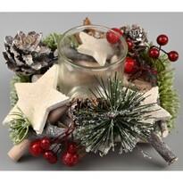 Abilene karácsonyi gyertyatartó, 10 cm