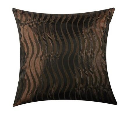 Sada 2 ks povlaků na polštář ONDE MARE, hnědá, 40 x 40 cm