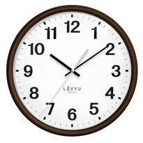 Lavvu LCS4041 nástěnné hodiny Essential wood, pr. 30 cm