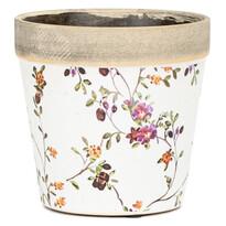 Recipient ceramic de ghiveci Spring Flowers,12,5 x 12 cm