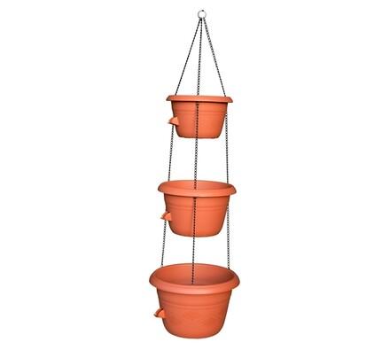 Sada závěsných samozavlažovacích květináčů, oranžová