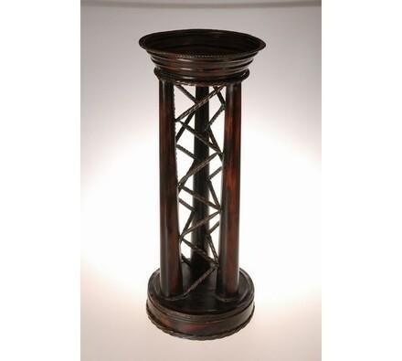 Květinový stolek Faros, měděná, 32 x 32 x 78 cm