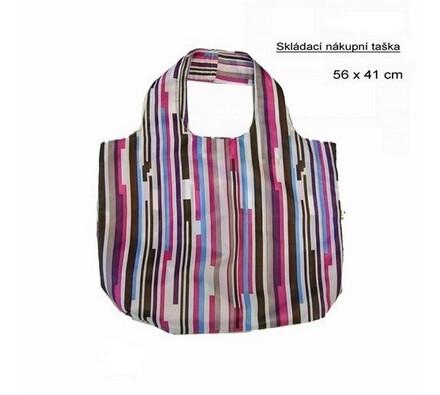 Skládací nákupní taška Famito 0019E proužek