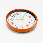 Nástěnné hodiny Color, oranžová