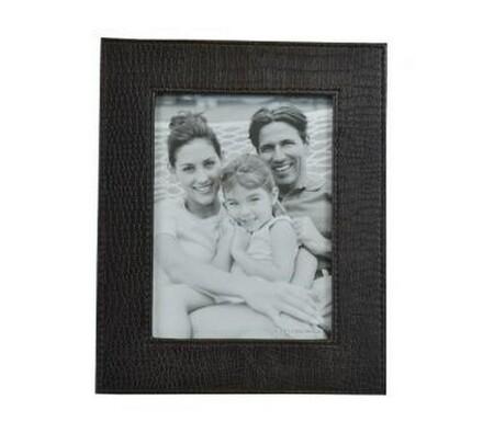 StarDeco fotorámeček kožený 15 x 20 cm  tmavě hnědý