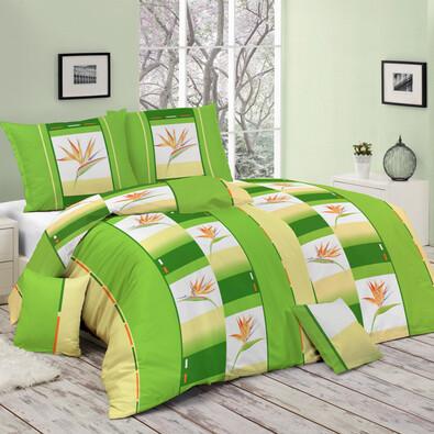 Bavlněné povlečení Anita zelená, 140 x 200 cm, 70 x 90 cm