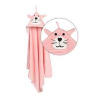 Ręcznik dla niemowlaka z kapucą Jimmy Tygrysek, 80 x 80 cm