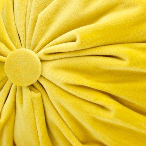 Domarex Polštář válec Serenity Velvet žlutá, 20 x 40 cm