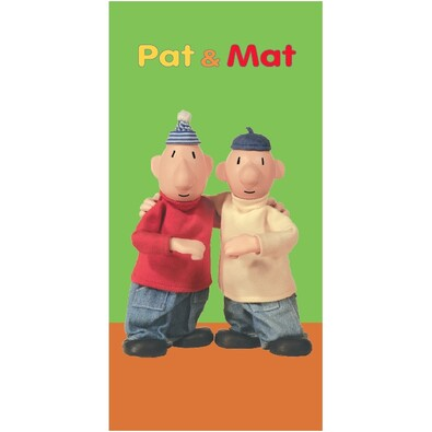 Osuška Pat a Mat green, 75 x 150 cm