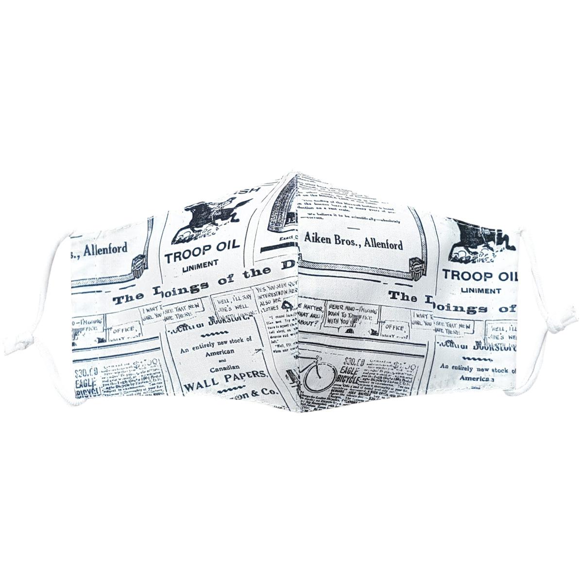 Mască facială din bumbac Ziarul mini copii 7 - 14 ani imagine 2021 e4home.ro