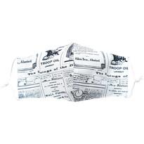 Bawełniana maseczka ochronna wzór gazeta mini   dzieci 7 - 14 lat